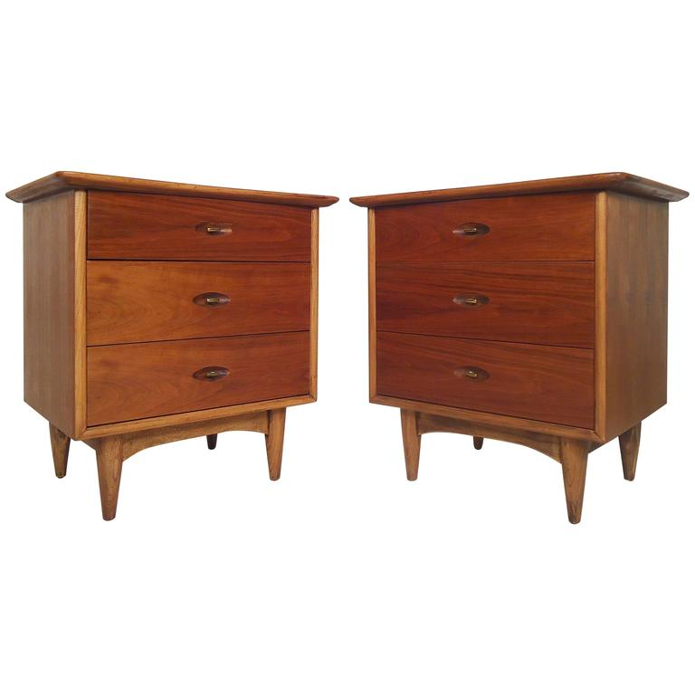 Mid century modern nightstands by kent coffey for sale at for Modern nightstands for sale