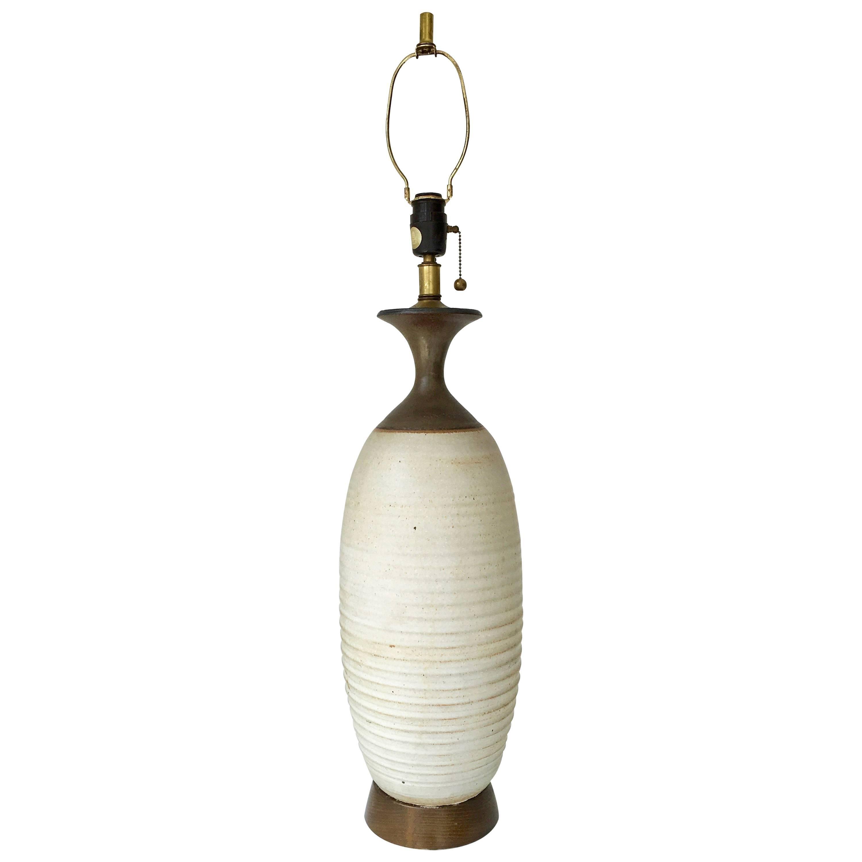 Midcentury Bob Kinzie Affiliated Craftsmen California Studio Pottery Table Lamp