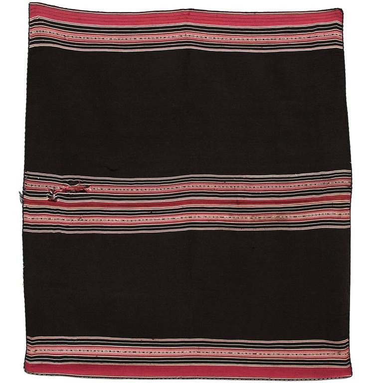 Bolivian Aymara Aguayo Textile Woven of Camelid Wool, Mid-19th Century For Sale
