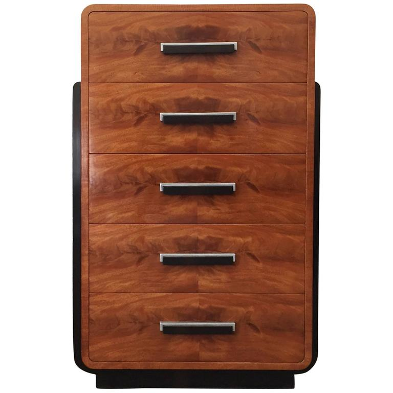 Donald Deskey, American Streamline 1930s Tall Dresser 1