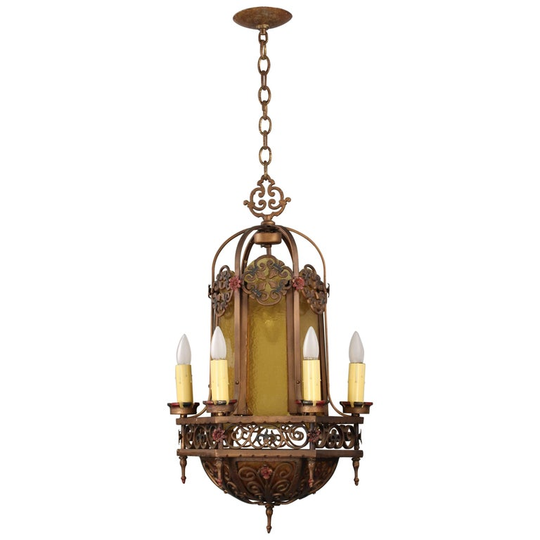 1 of 2 spanish revival classic chandelier for sale at 1stdibs for Spanish revival lighting