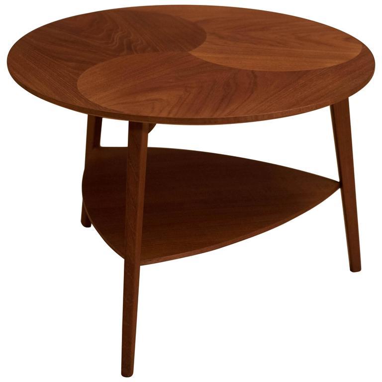 Teak Coffee Table And End Tables: Vintage Danish Round Teak Side Table At 1stdibs