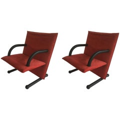 Pair of Two Arlfex T-Line Chairs, Burkhard Vogtherr, 1980s