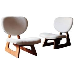 Pair of Junzo Sakakura Lounge Chairs