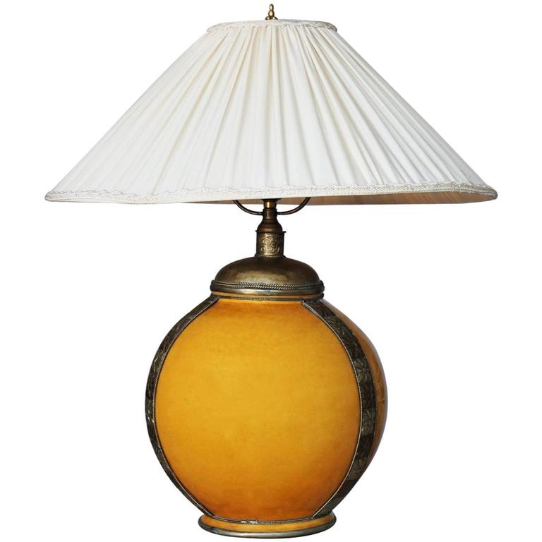 Vintage oriental glaze ceramic and brass large handmade table lamp for sale at 1stdibs - Handmade table lamp ...