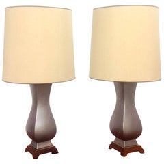 Two Gerald Thurston Table Lamps for Lightolier, 1960s