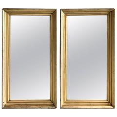 Pair of Gold Gilt Mirrors, Early 20th Century