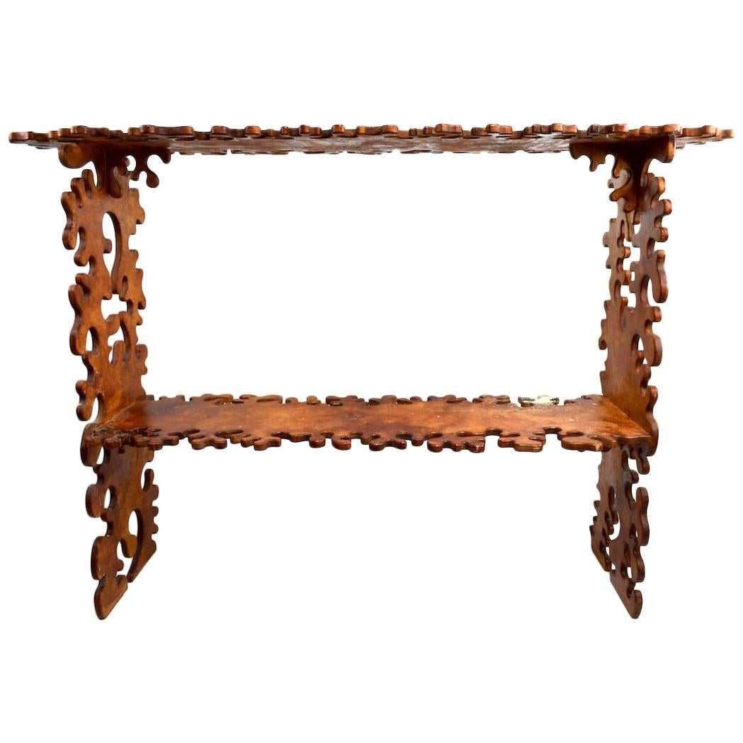 Jig Saw Puzzle Shelf in the Style of Nicola L