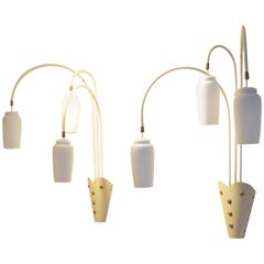 Mid Century XL French Theater Wall Sconces, 1950s