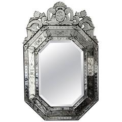Massive Italian Venetian Mirror, Early 20th Century