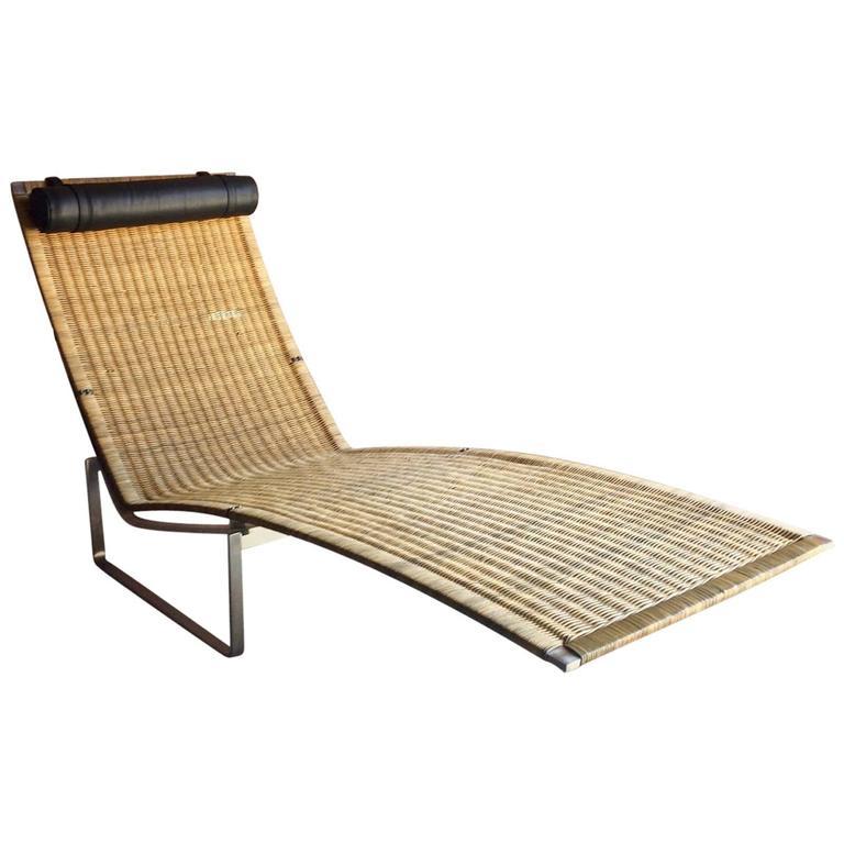 Poul kj rholm style chaise longue lounger model no pk24 for Bauhaus chaise lounge