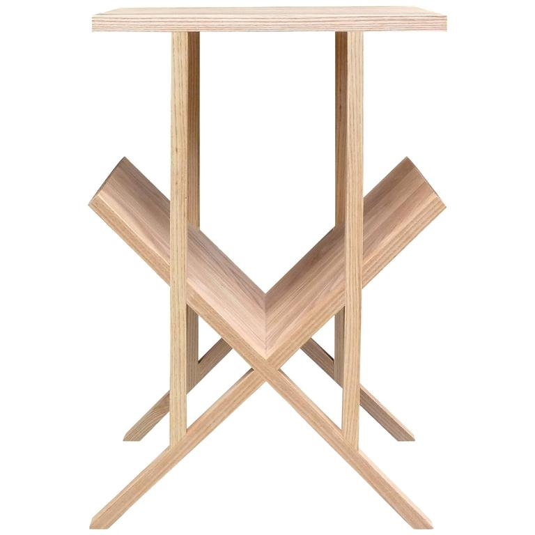 "Casey Lurie Studio Contemporary ""Lap"" Side or End Table in Ash"