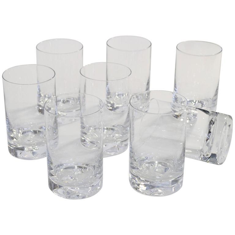"Tapio Wirkkala ""Icebreaker"" Glassware for Iittala, circa 1960s For Sale"