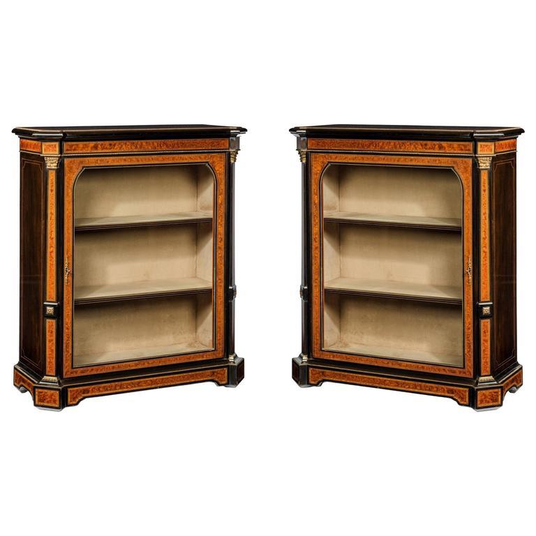 Fine Pair of 19th Century Antique Pier Cabinets