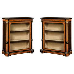 Fine Pair of 19th Century Antique Pier Cabinets