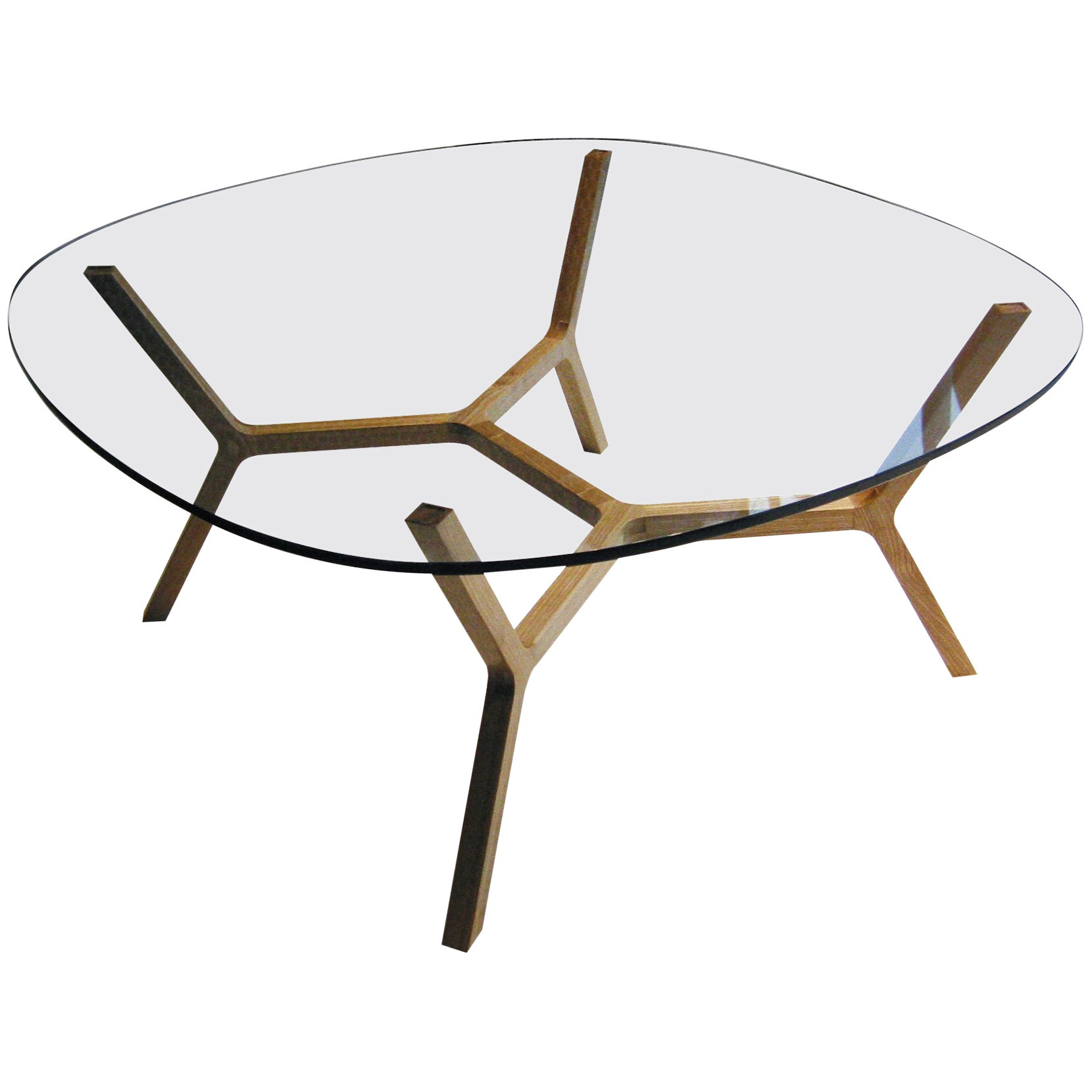 """Contemporary Coffee Table """"Stick"""" Four Legs in White Oak by Casey Lurie USA"""