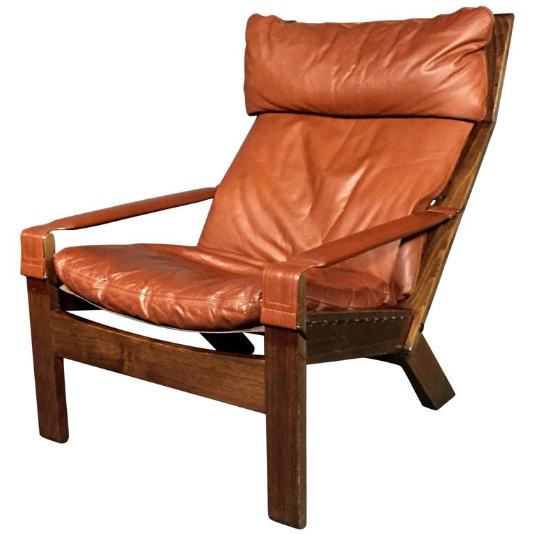 Adjustable Lounge Chair Leather And Beech Westnofa