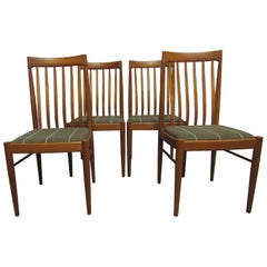 Set of Four Exquisite Teak Dining Chairs, H.W. Klein for Bramin Mobler, Denmark