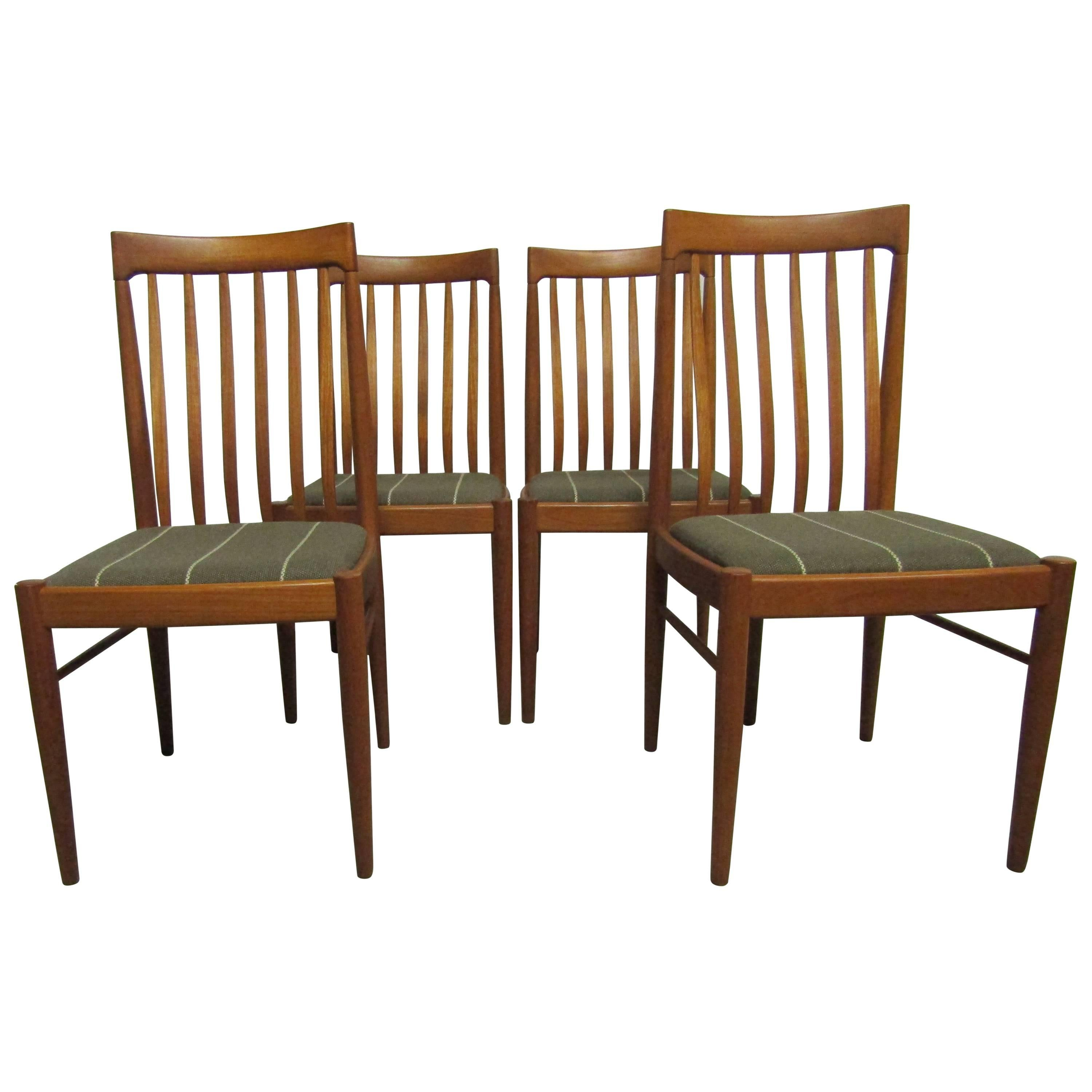 Genial Set Of Four Exquisite Teak Dining Chairs, H.W. Klein For Bramin Mobler,  Denmark