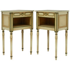 Pair of Side Cabinets or Bedside Tables, 20th Century, Directoire Empire Revival