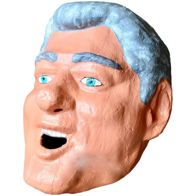 Monumental Bill Clinton Sculptural Head