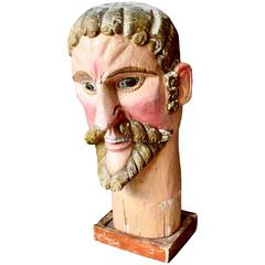 Monumental Wood Santo Head