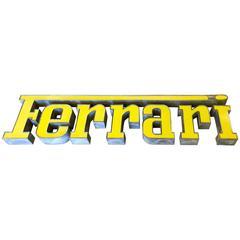Rare Vintage Ferrari Dealership Sign from Europe