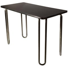Deco Tubular Console Table or Small Desk by Royal Chrome