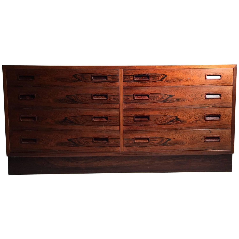 Danish Modern Poul Hundevad Rosewood Dresser Sideboard For Sale at ...