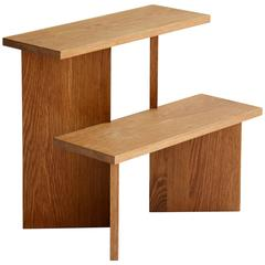 "Casey Lurie Studio Contemporary ""Steps"" Stool in White Oak"