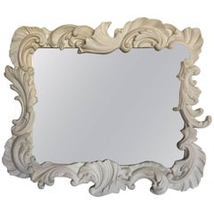 Fabulous Vintage Large Plaster Mirror in the Manner of Dorothy Draper