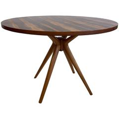 Osvaldo Borsani T40 Centre or Dining Table with Rosewood Top