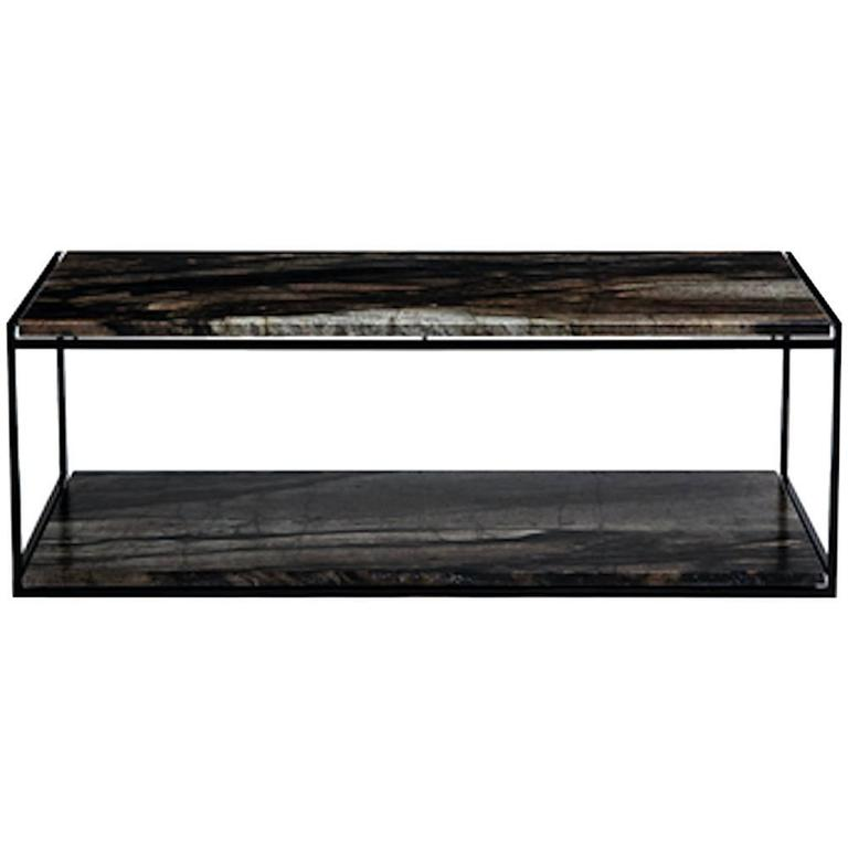 CA2TS Contemporary Handcrafted Minimalist Table with Interchangeable Stone Tops
