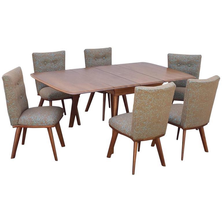 Dark Walnut Dining Table Set by Carl Bissman For Sale at 1stdibs