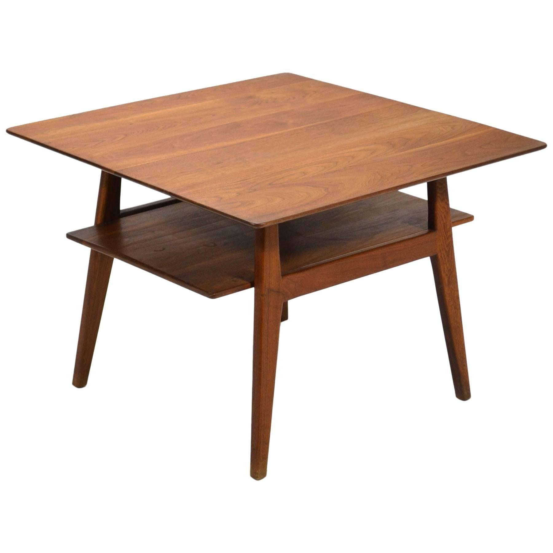 Jens Risom Walnut Side or End Table