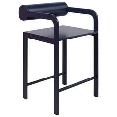 Waka Waka Zeitgenössischer Indigoblau Lackierter Stuhl mit Zylinderlehne