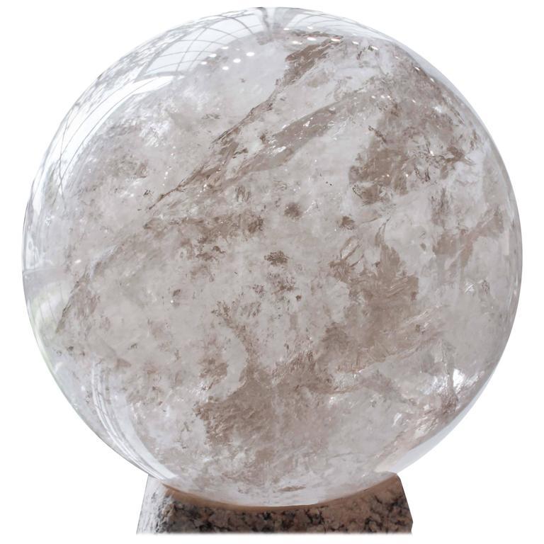 Monumental Quartz Crystal Sphere For Sale at 1stdibsQuartz Crystal Spheres For Sale