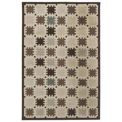 Indoor, Outdoor Flat-Weave Rug with Scandinavian Design