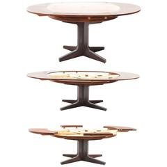 Rare and fantastic Dyrlund Smith Flip Flap Dining Table in Rosewood, 1960s