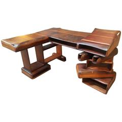 Exceptional California Craft Redwood Desk