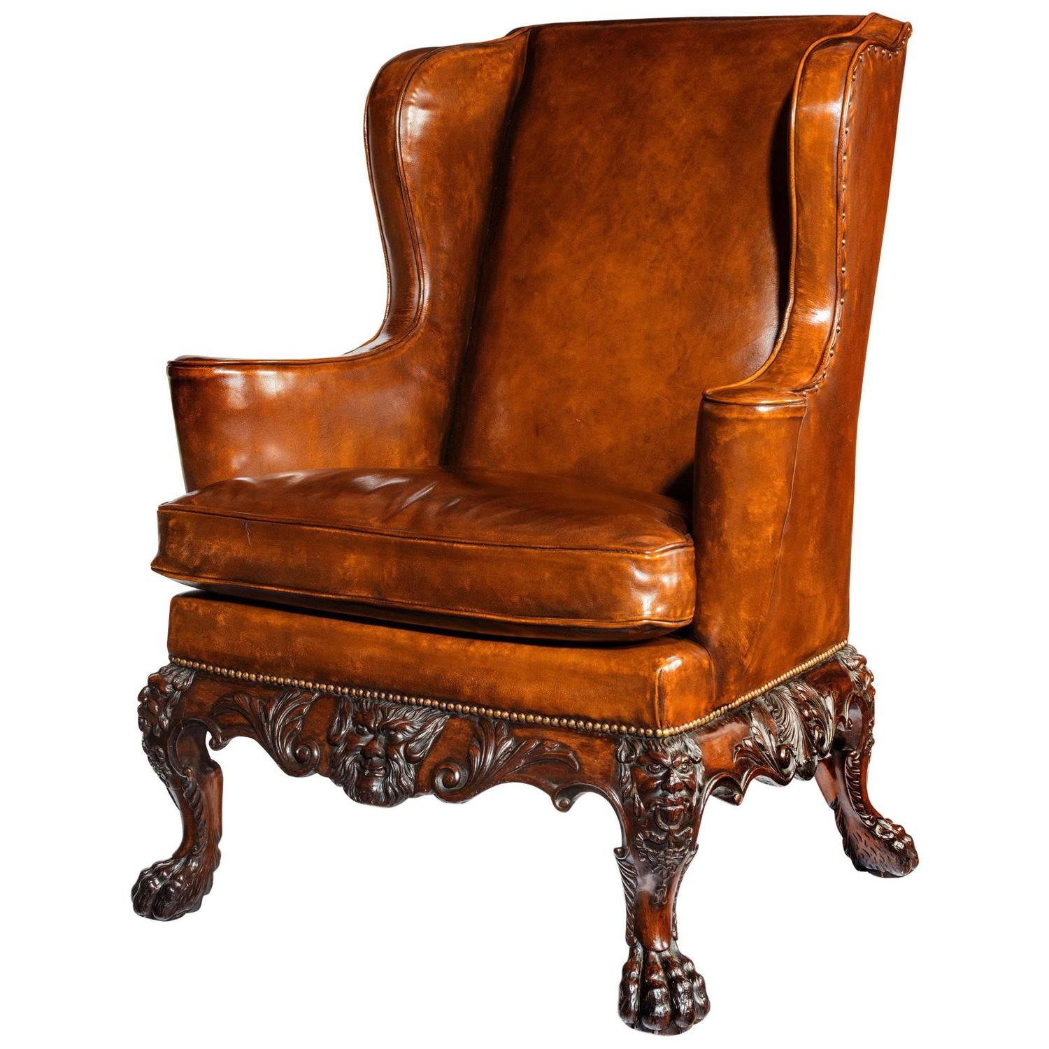 Leather Wingback Chairs 154 For Sale at 1stdibs