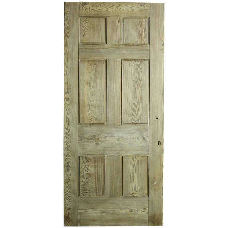 Heavy 19th Century Six-Panel Pine Door