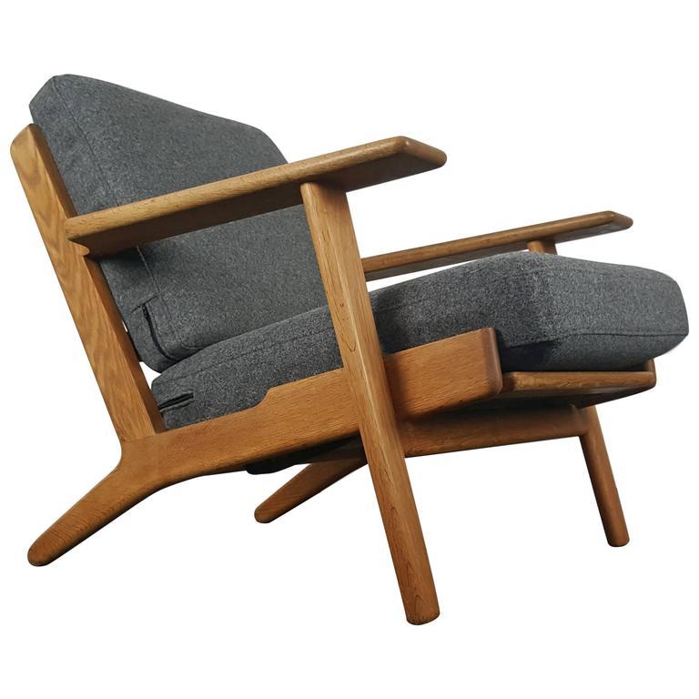 Original Vintage Hans Wegner GE290 Armchair for GETAMA, Denmark, 1950s