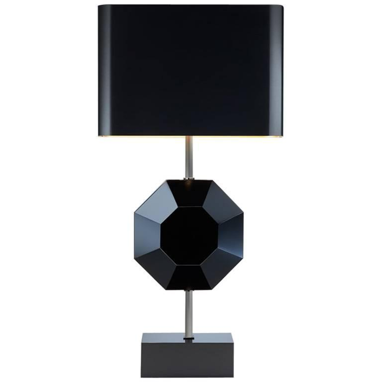 Octagonal Table Lamp, Prototype, Made in France by Charles Paris