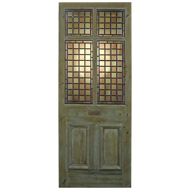 Antique Stained Or Leaded Glass Front Door For Sale At 1stdibs