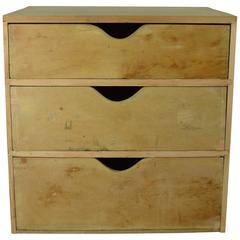 Antique Minimalist Style Pine Chest of Drawers, English, 19th Century