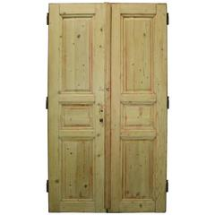 Pair of 19th Century French Pine Double Doors