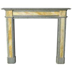 Early 20th Century Swedish Green and Sienna Marble Fire Surround