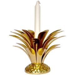 Handmade Cast Brass Pineapple Candleholder