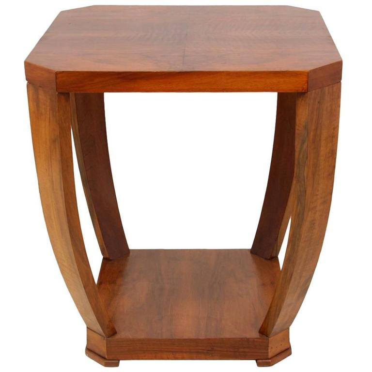 deco walnut side table circa 1930 at 1stdibs